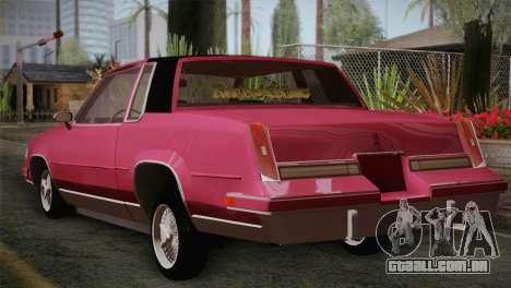 Oldsmobile Cutlass 1987 v2.2 para GTA San Andreas esquerda vista
