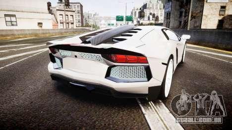 Lamborghini Aventador Hamann Limited 2014 [EPM] para GTA 4 traseira esquerda vista