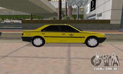 Peugeot 405 Roa Taxi para GTA San Andreas traseira esquerda vista