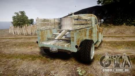 GTA V Bravado Rat-Loader rust para GTA 4 traseira esquerda vista
