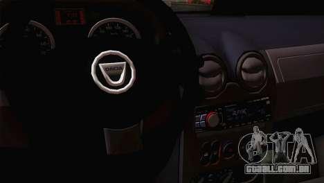Dacia Logan 2006 para GTA San Andreas vista traseira