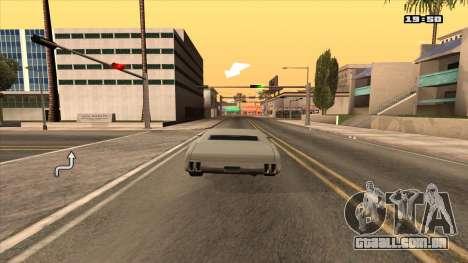 Navegador GPS com voz russo para GTA San Andreas segunda tela