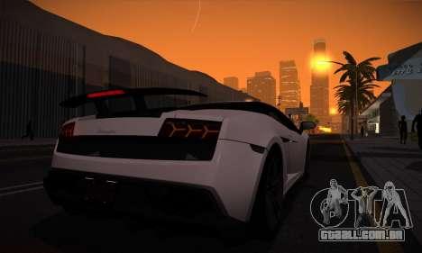 ENB Version v3.1 para GTA San Andreas por diante tela