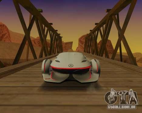 Mercedes-Benz Silver Arrows para GTA San Andreas vista traseira