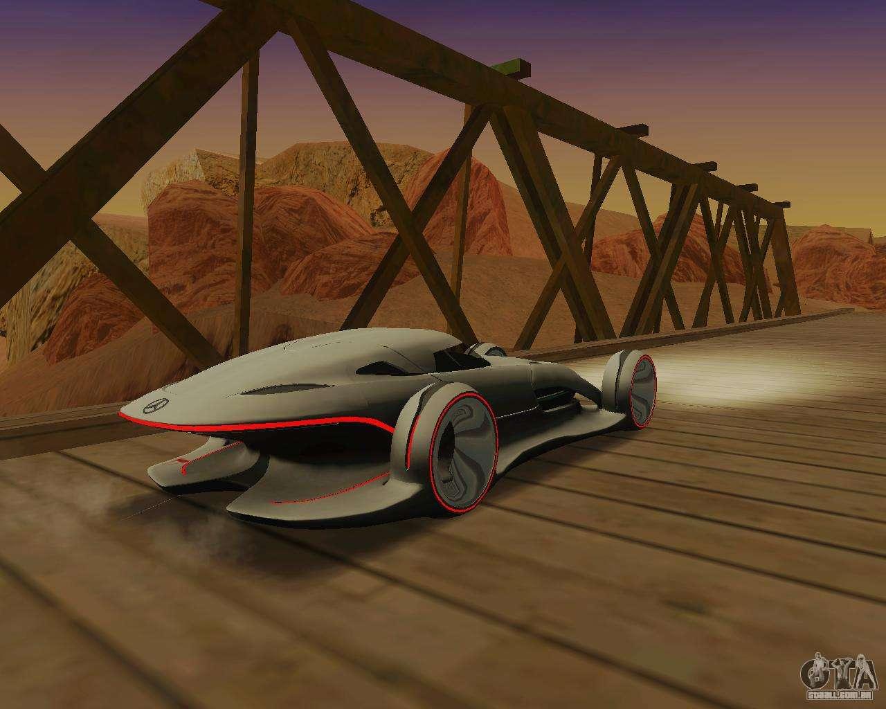 Mercedes Benz Silver Arrows Para GTA San Andreas Vista Direita