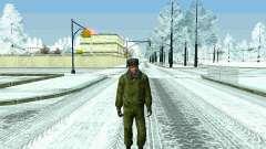 Pak militar da Federação da rússia no inverno un