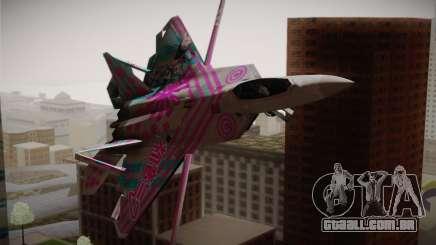 F-22 Raptor Hatsune Miku para GTA San Andreas