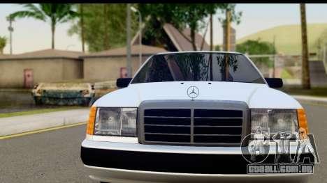 Mercedes Benz E320 W124 Coupe para GTA San Andreas traseira esquerda vista