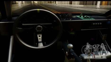 Drift Elegy Edition para GTA San Andreas vista interior