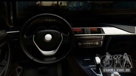 BMW M4 para GTA San Andreas vista traseira