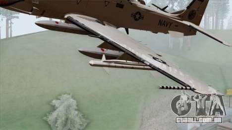 Embraer A-29B Super Tucano Navy White para GTA San Andreas vista direita