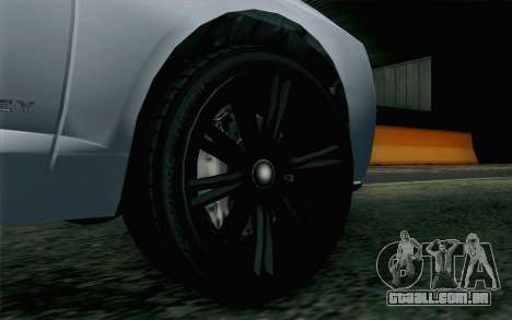 GTA 5 Obey Tailgater v2 IVF para GTA San Andreas traseira esquerda vista