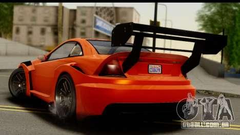 GTA 5 Benefactor Feltzer para GTA San Andreas esquerda vista
