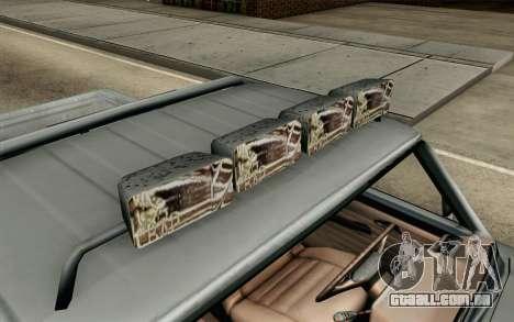 Pickup from Alan Wake para GTA San Andreas vista traseira