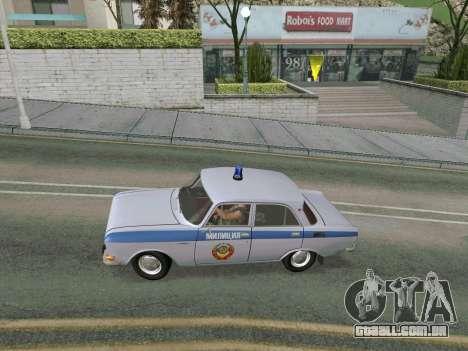 Moskvich 2140 Polícia para GTA San Andreas vista direita