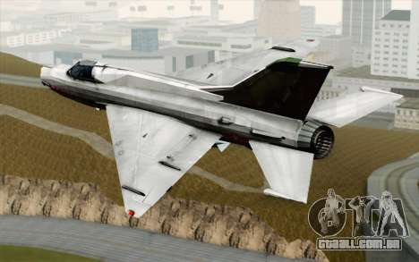 MIG-21MF Vietnam Air Force para GTA San Andreas esquerda vista