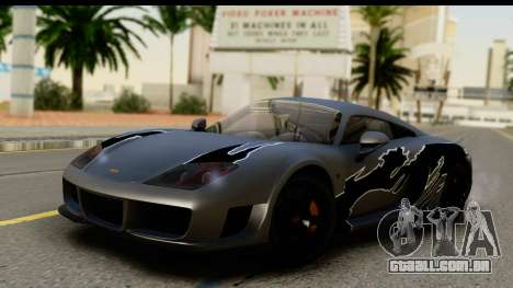 Noble M600 2010 HQLM para GTA San Andreas vista inferior