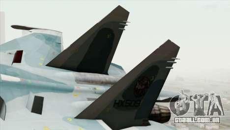 Sukhoi SU-27 PMC Reaper Squadron para GTA San Andreas traseira esquerda vista