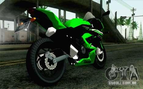 Kawasaki Ninja 250RR Mono Green para GTA San Andreas esquerda vista