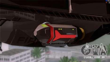 Shuttle v1 (wheels) para GTA San Andreas traseira esquerda vista