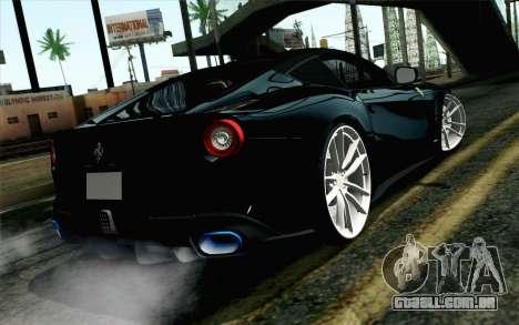 Ferrari F12 Berlinetta para GTA San Andreas esquerda vista