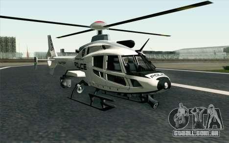 NFS HP 2010 Police Helicopter LVL 1 para GTA San Andreas