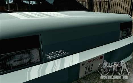 Sultan Lan Evo para GTA San Andreas traseira esquerda vista