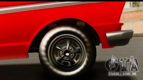 GTA 5 Vapid Blade v2 IVF para GTA San Andreas vista traseira