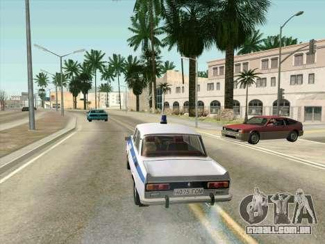 Moskvich 2140 Polícia para GTA San Andreas vista interior