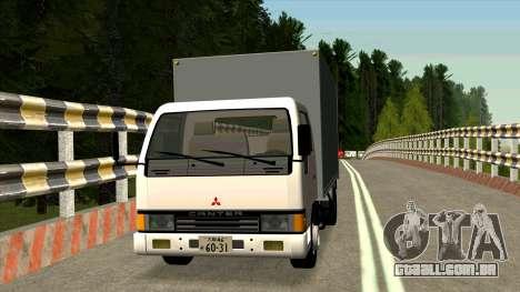Mitsubishi Fuso Canter 1989 Aluminium Van para GTA San Andreas esquerda vista