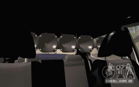 Volkswagen Fox para GTA San Andreas vista traseira