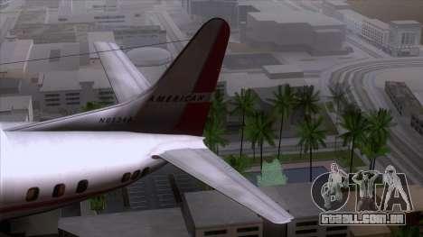 L-188 Electra American Als para GTA San Andreas vista direita