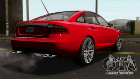 GTA 5 Obey Tailgater para GTA San Andreas esquerda vista