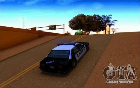 Enb Series Baixos Recursos para GTA San Andreas por diante tela