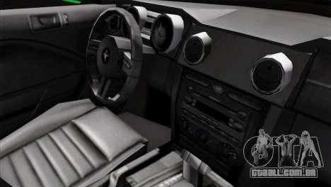 Ford Mustang GT Wheels 2 para GTA San Andreas vista direita