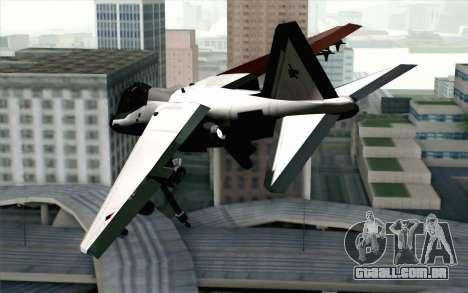 Hydra ADFX-02 Pixy para GTA San Andreas esquerda vista