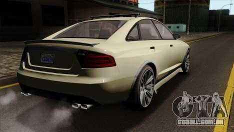 GTA 5 Obey Tailgater SA Mobile para GTA San Andreas esquerda vista