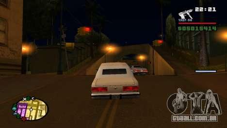 Para aumentar ou diminuir o radar em GTA V para GTA San Andreas sexta tela