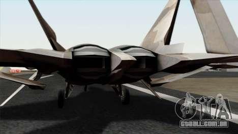F-22 Raptor 02 para GTA San Andreas vista traseira
