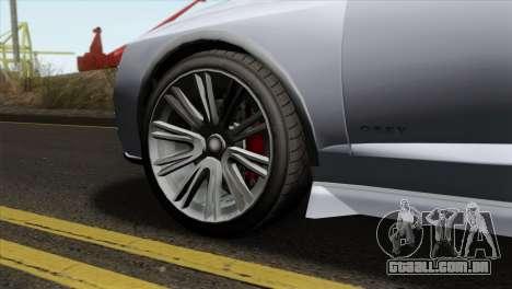 GTA 5 Obey Tailgater IVF para GTA San Andreas traseira esquerda vista