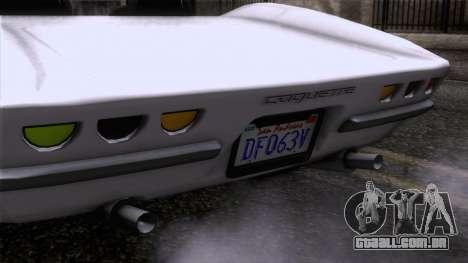 GTA 5 Invetero Coquette Classic TL SA Mobile para GTA San Andreas vista traseira