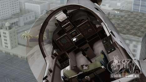 Embraer A-29B Super Tucano Marines para GTA San Andreas vista traseira