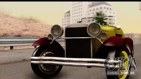 Ford A 1928 para GTA San Andreas traseira esquerda vista