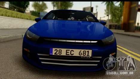 Volkswagen Scirocco para GTA San Andreas traseira esquerda vista