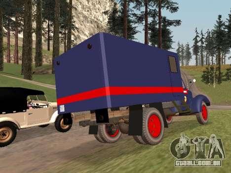 ZIL 157 polícia para GTA San Andreas traseira esquerda vista