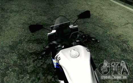 Kawasaki Ninja 250RR Mono White para GTA San Andreas vista direita
