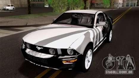 Ford Mustang GT Wheels 2 para GTA San Andreas vista superior