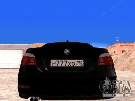 BMW 525i (e60) para GTA San Andreas vista direita