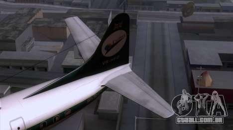 L-188 Electra Cathay P para GTA San Andreas traseira esquerda vista