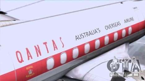 L-188 Electra Qantas para GTA San Andreas vista traseira